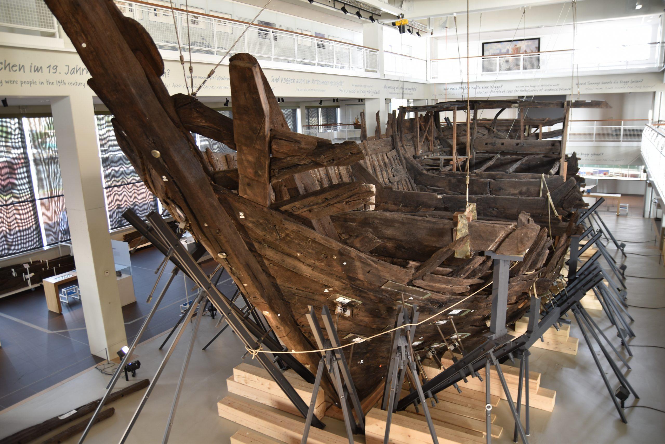 Der Rohbau eines Schiffes im Deutschen Schiffahrtsmuseum.
