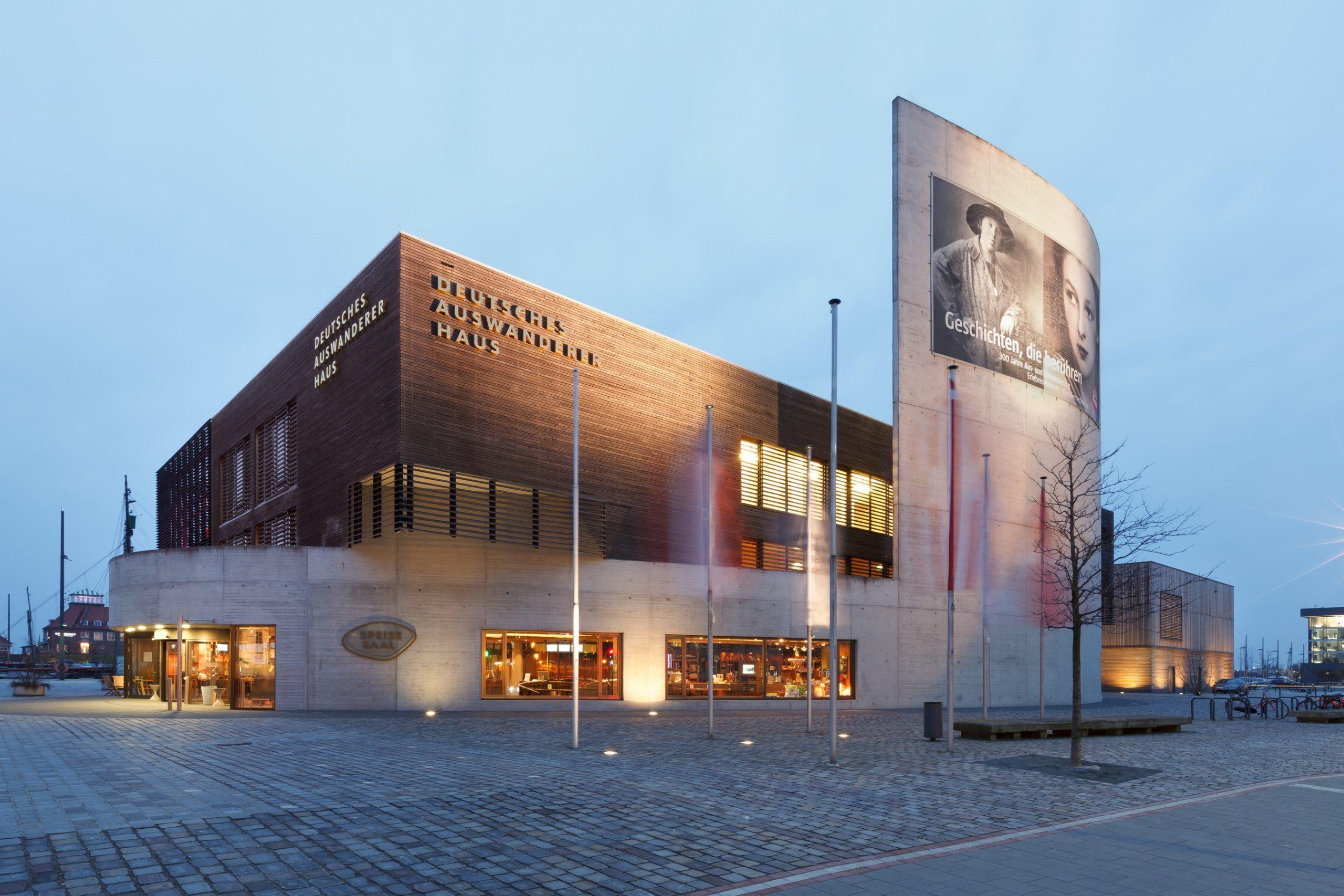 Eine Aufnahme des Deutschen Auwandererhauses in Bremerhaven.