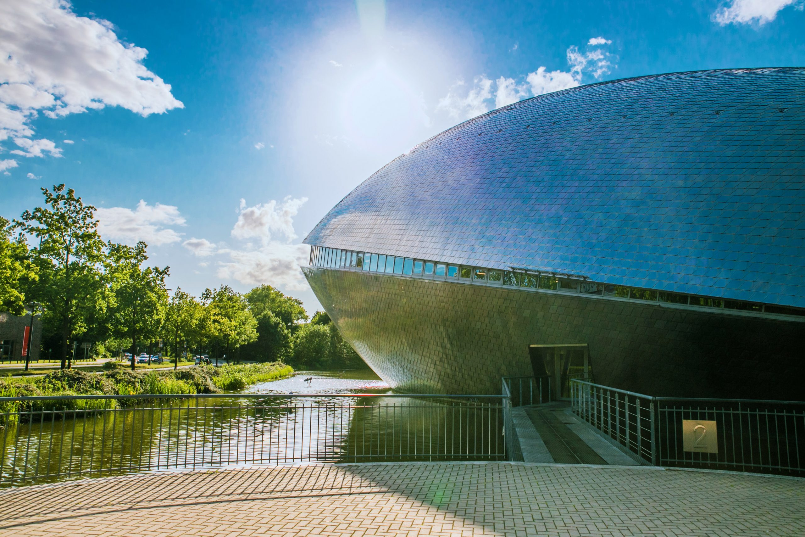 A shot of the Universum in Bremen on a sunny day.